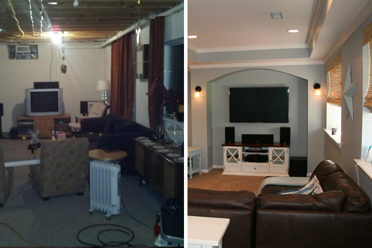 family friendly finished basement in novi michigan