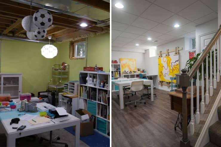 berkley finished basement with studio