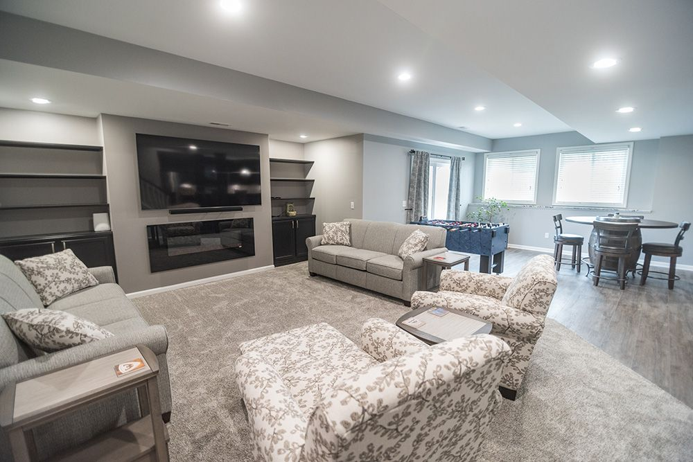 bright basement brighton walkout living room